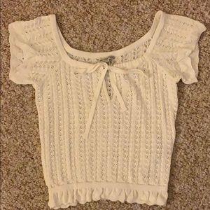 Guess White Knit Top XS